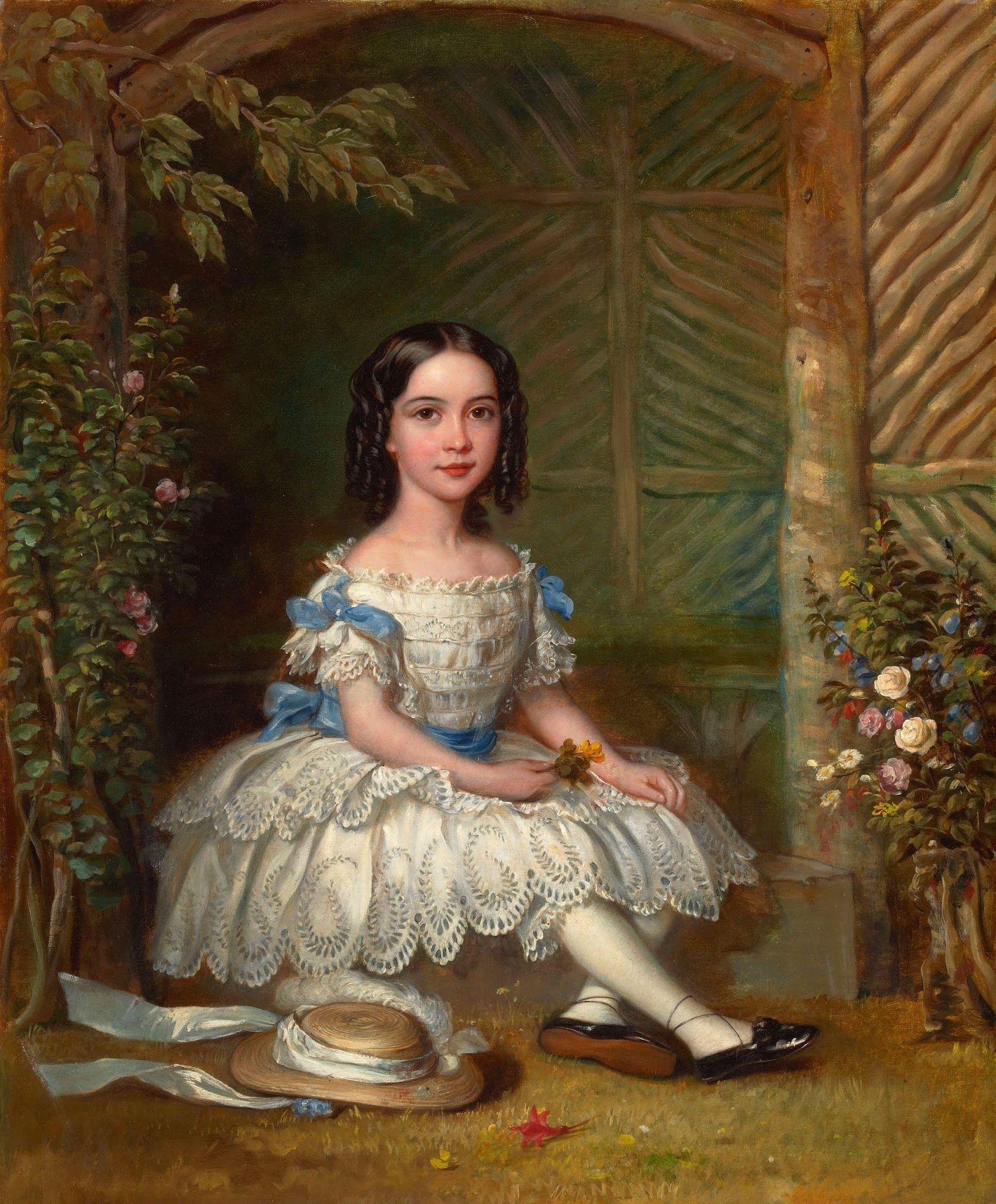 British school 19th century portrait of a girl art