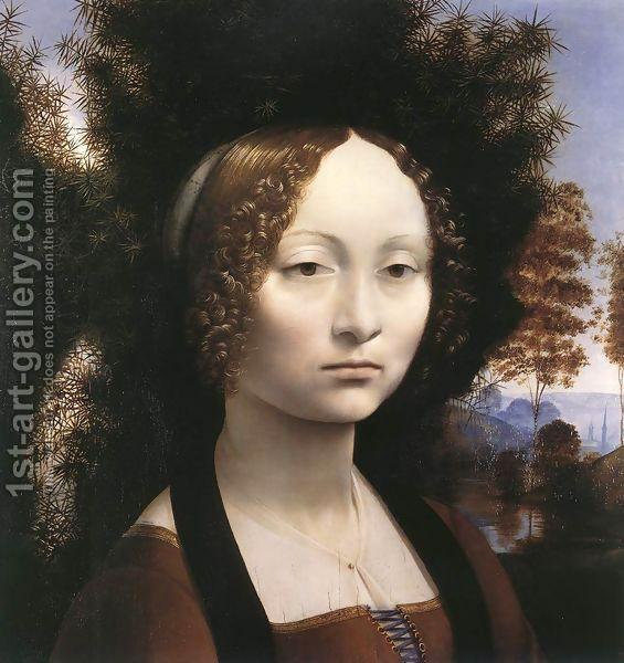 Portrait Of Ginevra De Benci Da Vinci Painting National Gallery