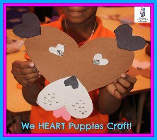 "We ""heart"" puppies craftivity!  FREEBIE!"