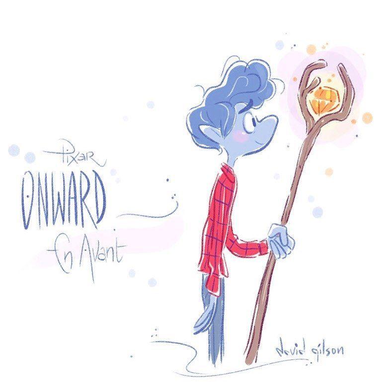 "Photo of David Gilson on Instagram: ""(En) avant demain… 🧙🏻♂️ #davidgilson #enavant #pixaronward #onward #fanart"""