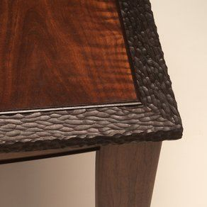 Figured Walnut And Wenge Side Table Custom Made By Neal Barrett Woodworking