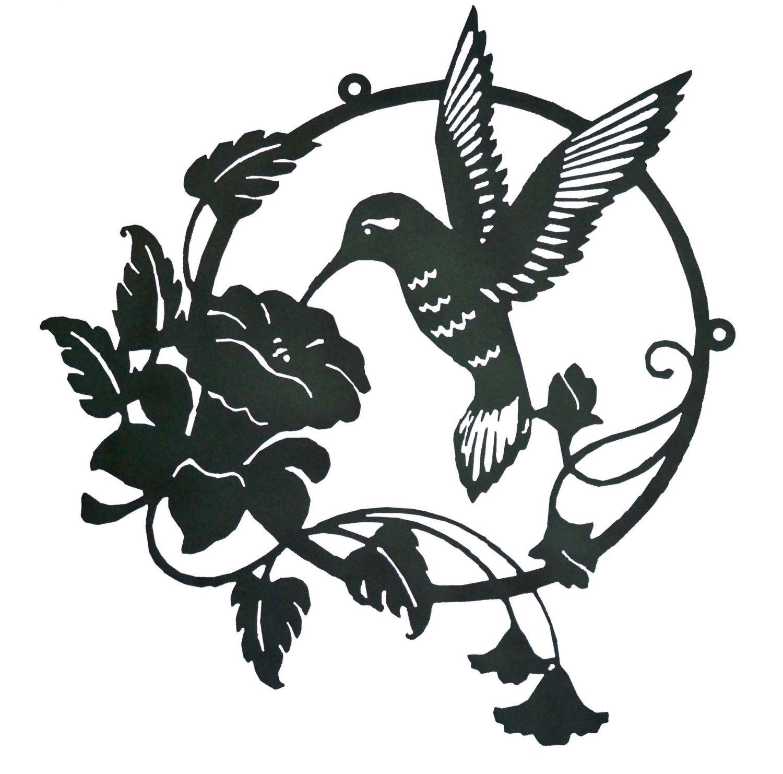 Image Detail For Large Hummingbird Flower Metal Wall Art O By Rustyroostermetal Hummingbird Flowers Metal Wall Art Art