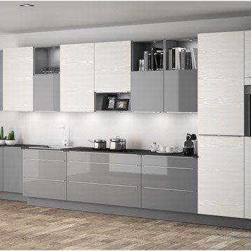 Une #cuisine #moderne #blanc et #gris ! http://www.m-habitat.fr/par ...