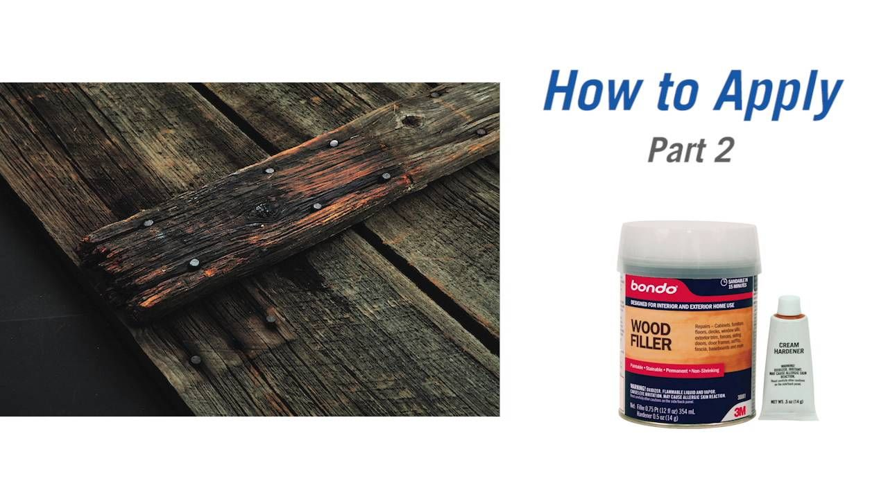 How to Repair Wood with Bondo Wood Filler and Rotted Wood