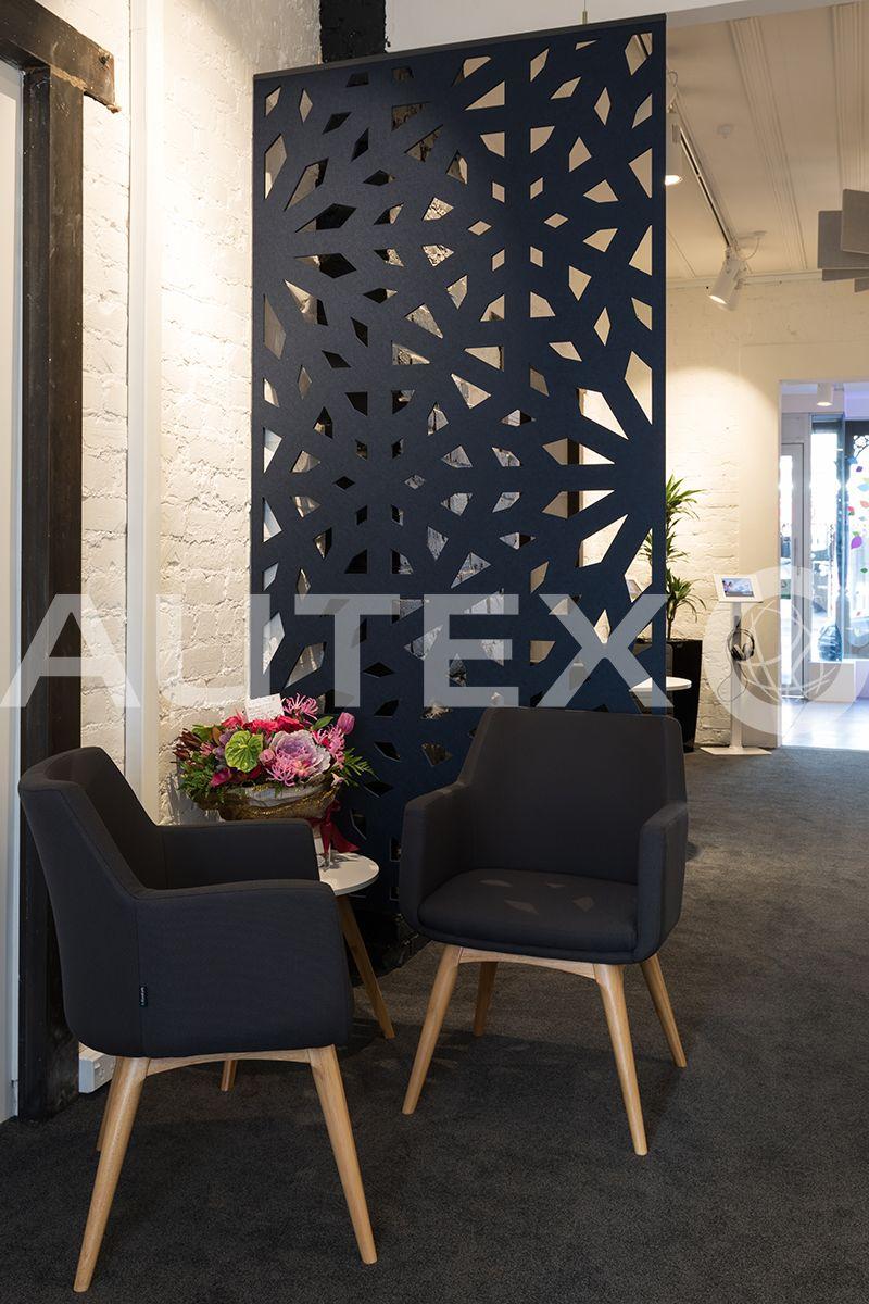 Autex interior acoustics cascade hanging screens bay