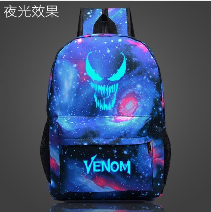 Venom Fashion Backpacks Custom Backpack Unisex Notebook Bag Casual School Bags for Teenage Girls Ga