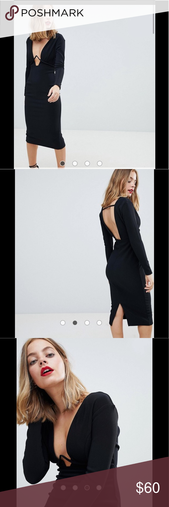 2820d52a786e ASOS petite long sleeve underwire bodycon dress 0  worn once as shown