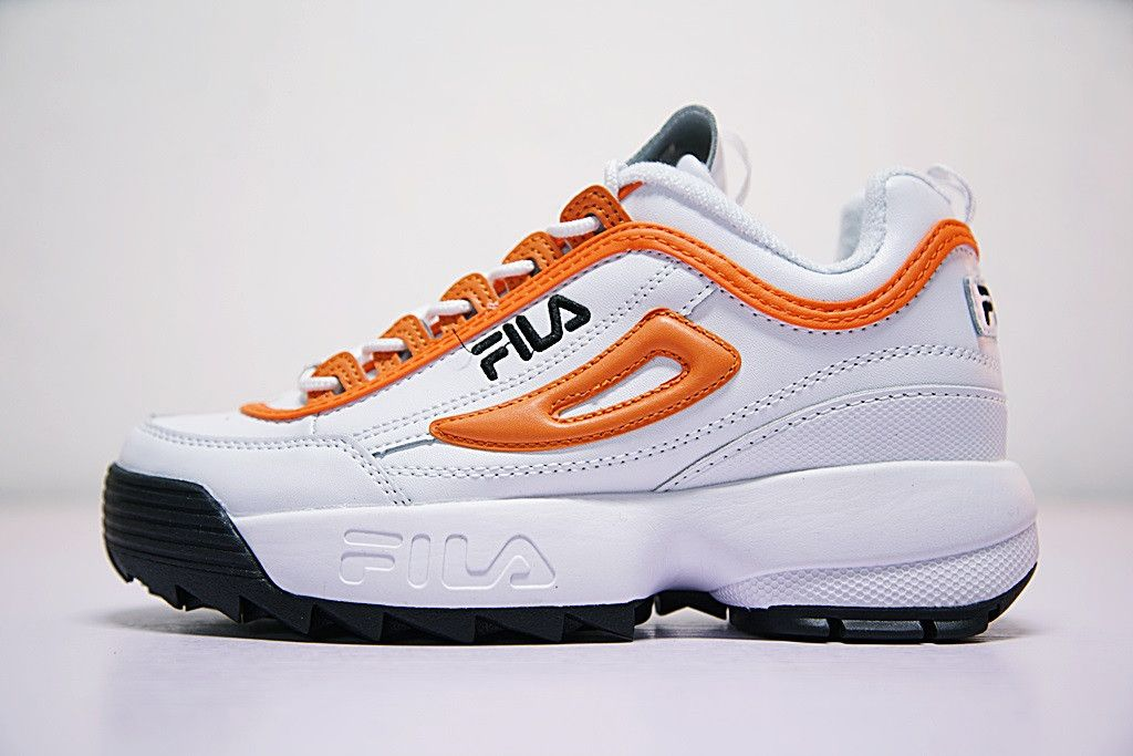 cb12383b766c FILA DISRUPTOR II 2 ORANGE WHITE TRAINER SNEAKER FW0165 038