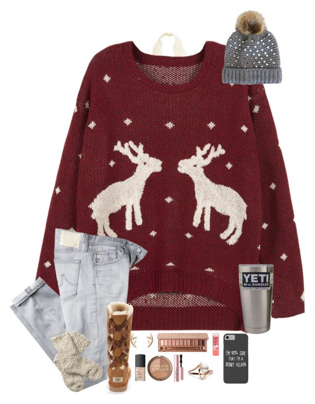 """""""School Tomorrow and RTD"""" by taylor-austinxoxo ❤ liked on Polyvore featuring WithChic, AG Adriano Goldschmied, Do Everything In Love, UGG Australia, Fat Face, Urban Decay, NARS Cosmetics, H&M, Too Faced Cosmetics and Maybelline"""