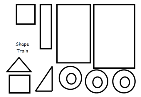 Cuckoo for Choo Choos! - Shape Train Construction | projects for