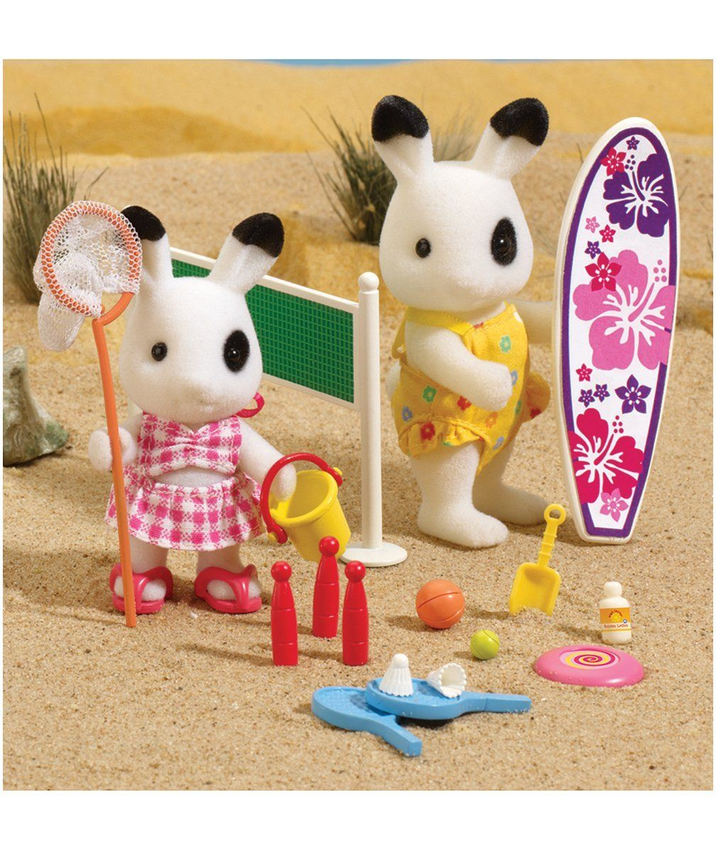 Sylvanian Families Calico Critter Summer Beach Outfit /& Accessories