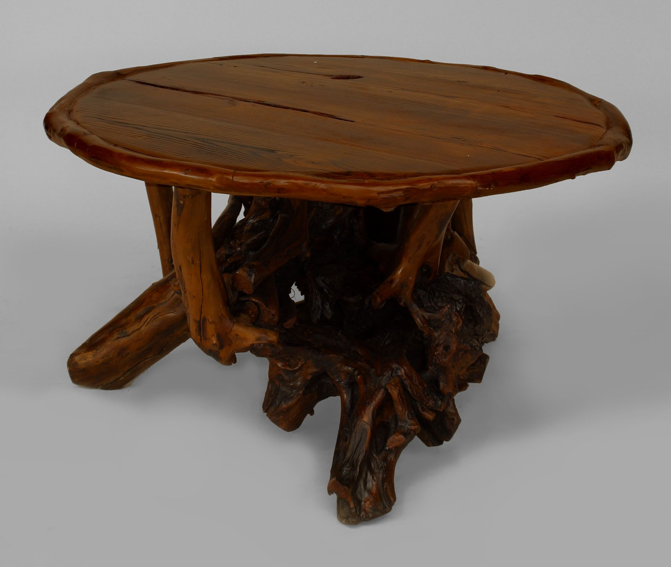 Rustic Adirondack table coffee table root