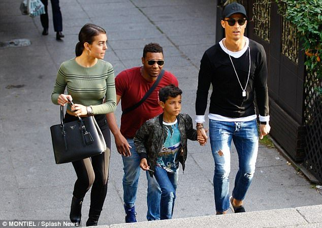 Cristiano Ronaldo Spends Some Family Time With His Son And