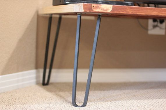 square bar hairpin legs raw steel