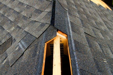 What Does A Ridge Vent On A Roof Look Like Hidden Continuous Ridge Vent Came On The Scene About 25 Years Ago The Building Design Ridge Vent Roof Inspection