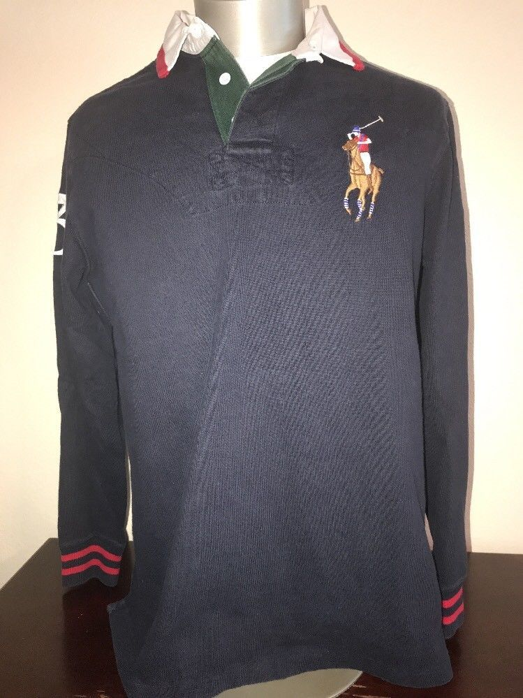 c0114a39 Vintage Polo Ralph Lauren Big Pony #3 Rugby Long Sleeve Shirt Medium # PoloRalphLauren #PoloRugby