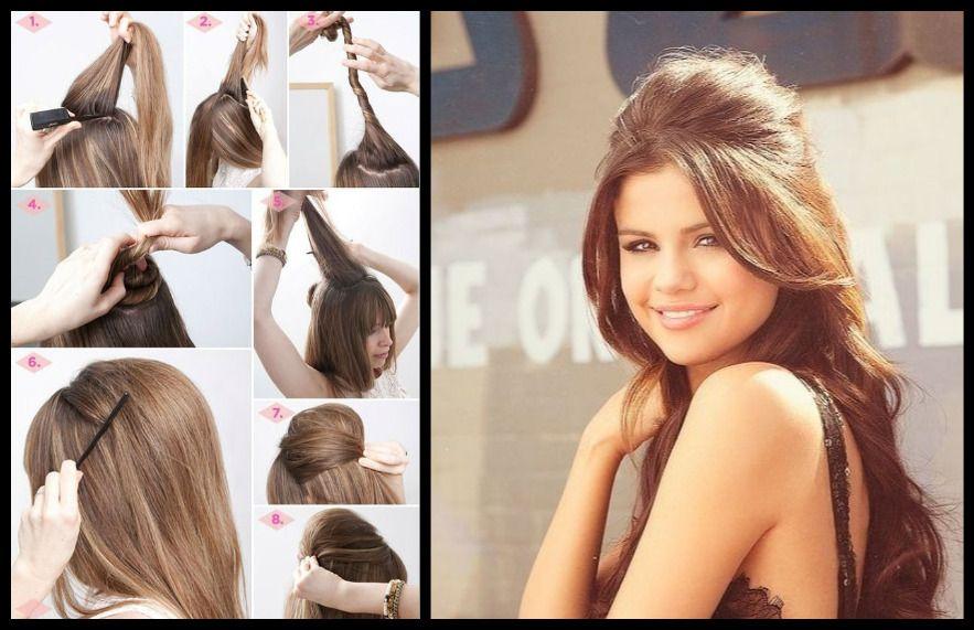 How To Selena Gomez Hairstyles Diy Hairstyles Hair Styles Short Hair Styles