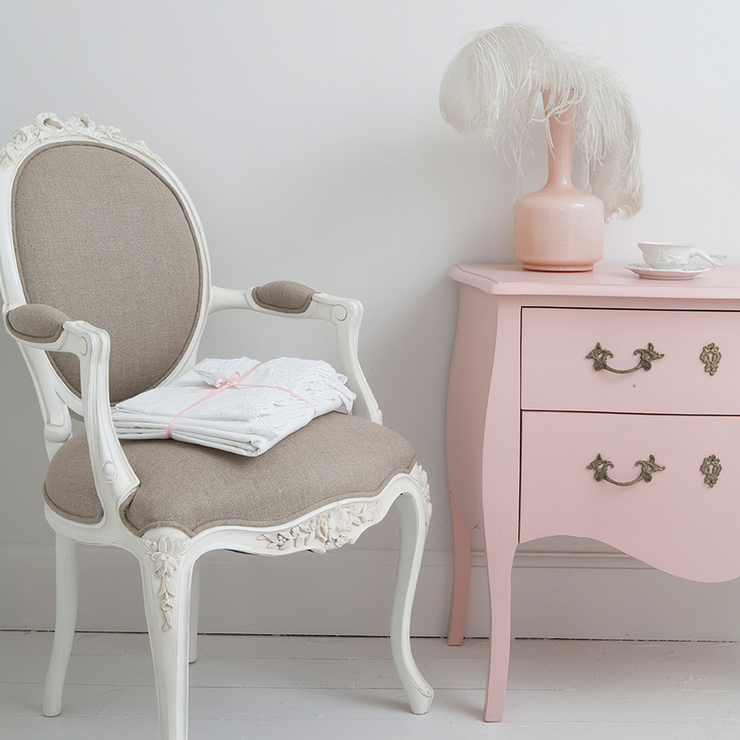 Provencal Linen Lady's Chair  from The French Bedroom Company.  Want