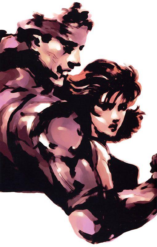Snake & Meryl Portrait, Metal Gear Solid 1