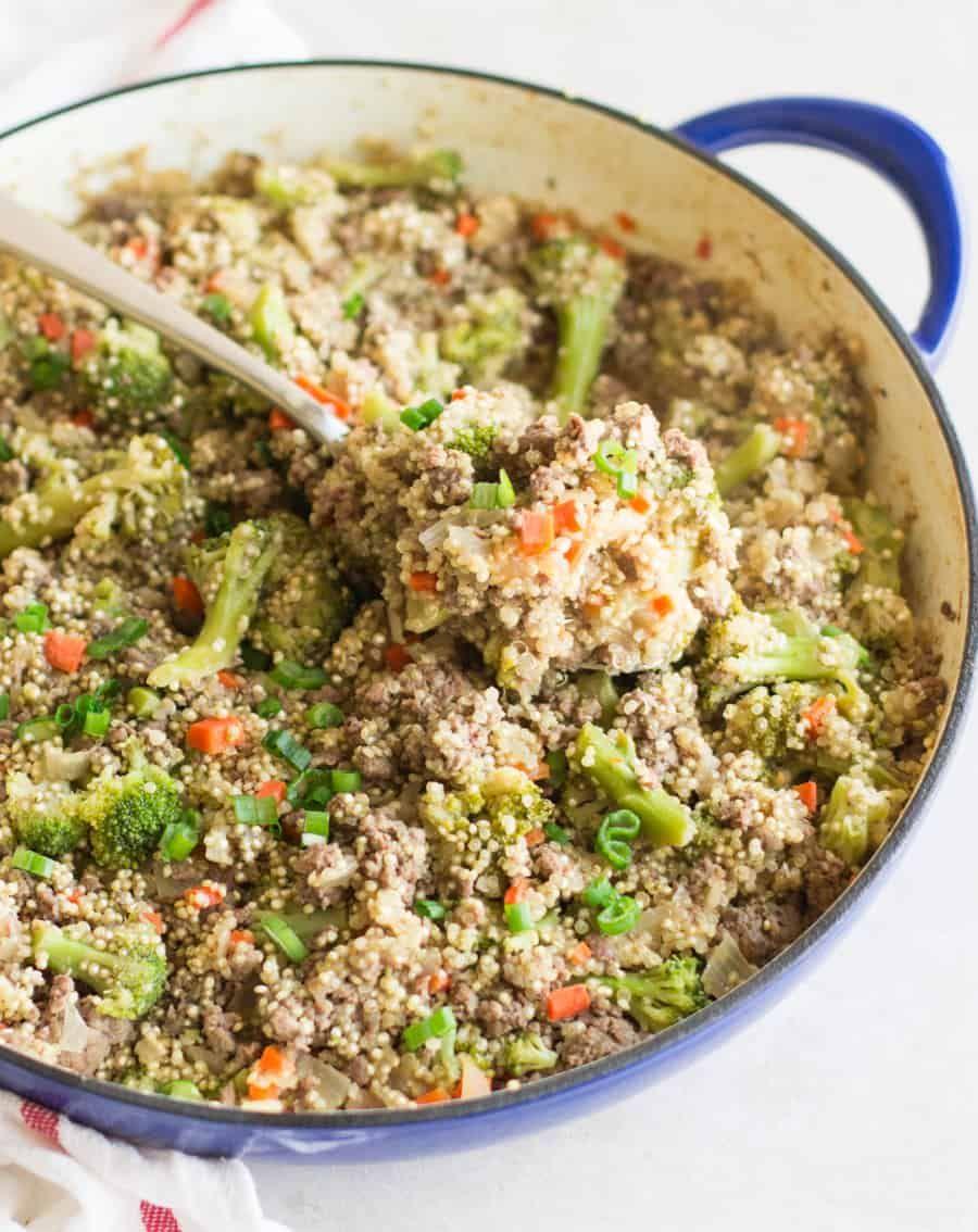Healthy Korean Ground Beef And Broccoli Quinoa Recipe In 2020 Broccoli Beef Ground Beef And Broccoli Korean Ground Beef