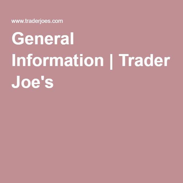 General Information | Trader Joe's | Donation Requests