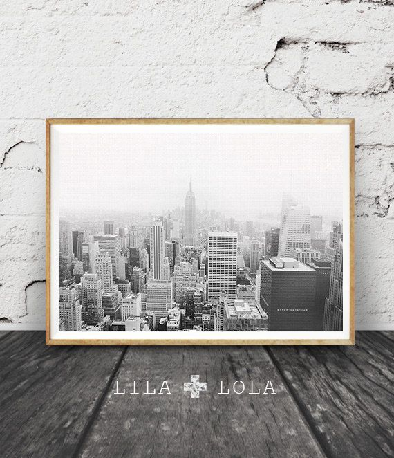 New York Print, Black and White Photography, New York City Skyline ...
