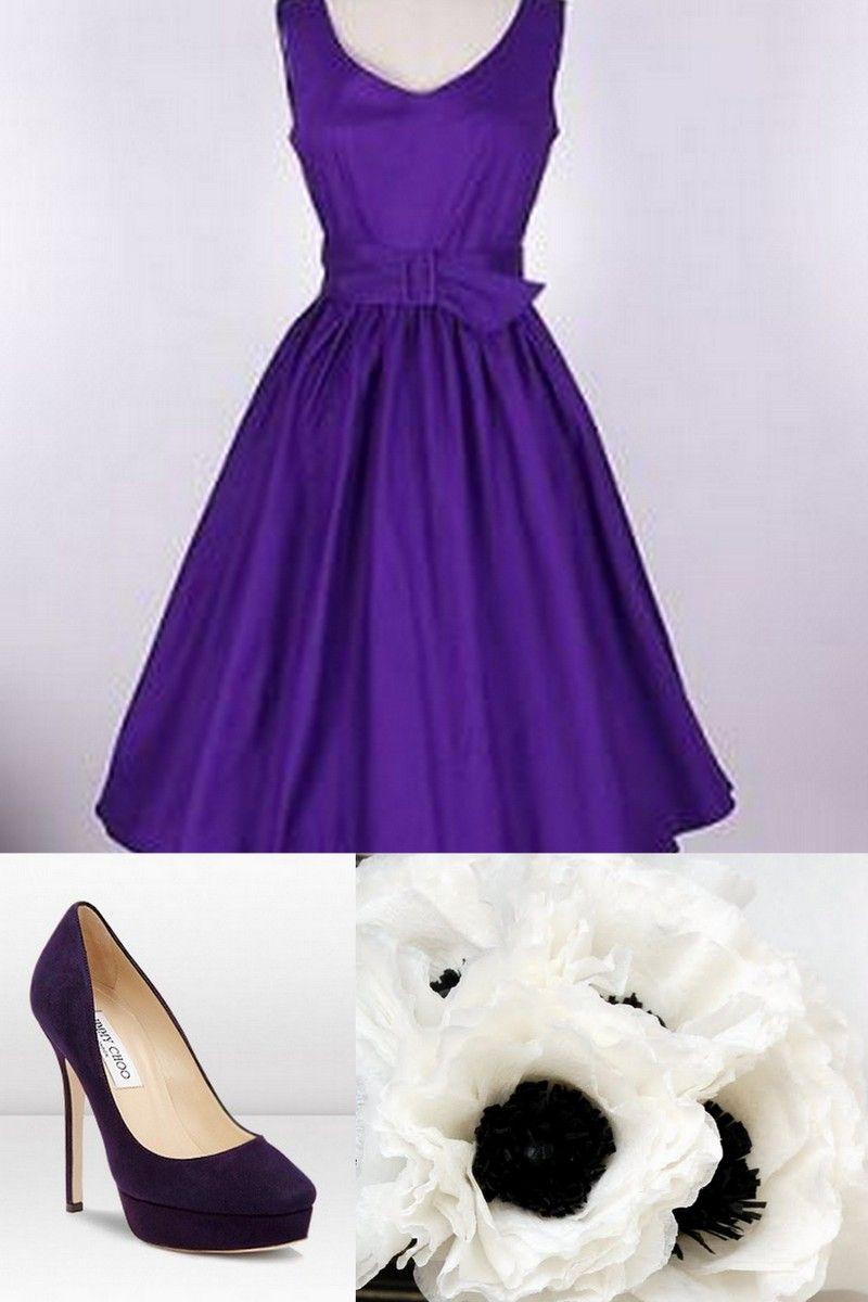 Purple Vintage Wedding Dresses