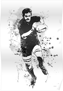 Rugby Player Poster By Marlene Watson Hall Rugby Dessin Tableau Acrylique
