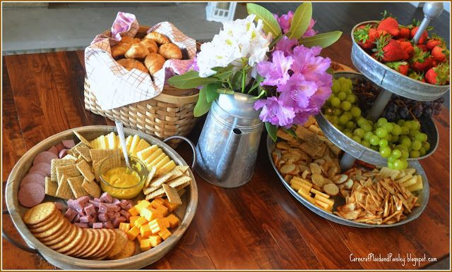 Corner of Plaid and Paisley: Creating a Simple Cheese Board Appetizer Table