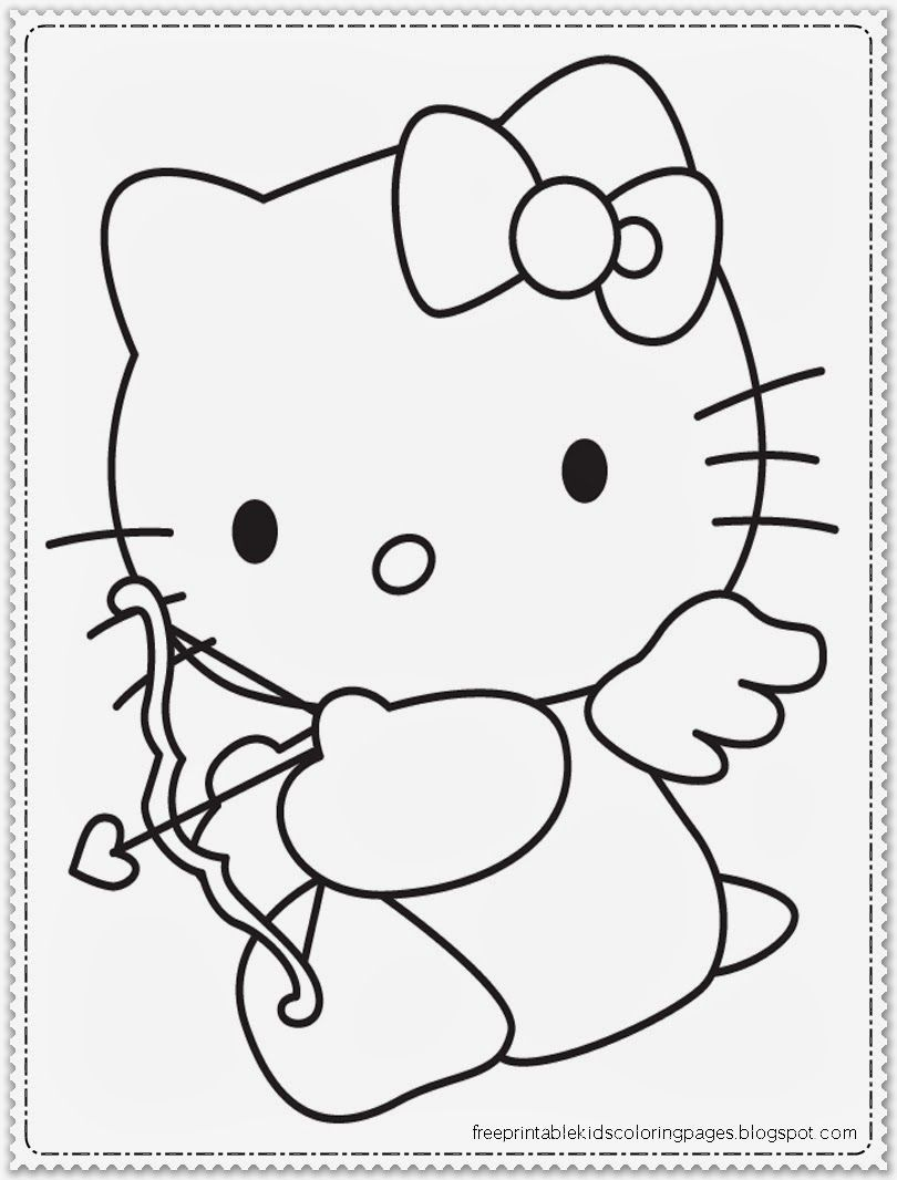Valentines Day Hello Kitty Coloring Page #HelloKitty #ValentinesDay ...