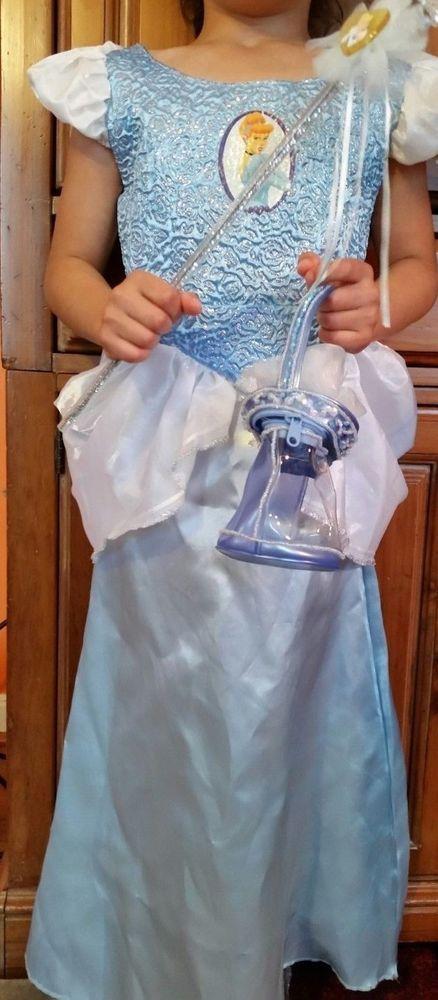 Cinderella Costume Girls Disney Classics DRESS WAND TIARA Size CHILD Small 4-6 #Disney #CompleteOutfit