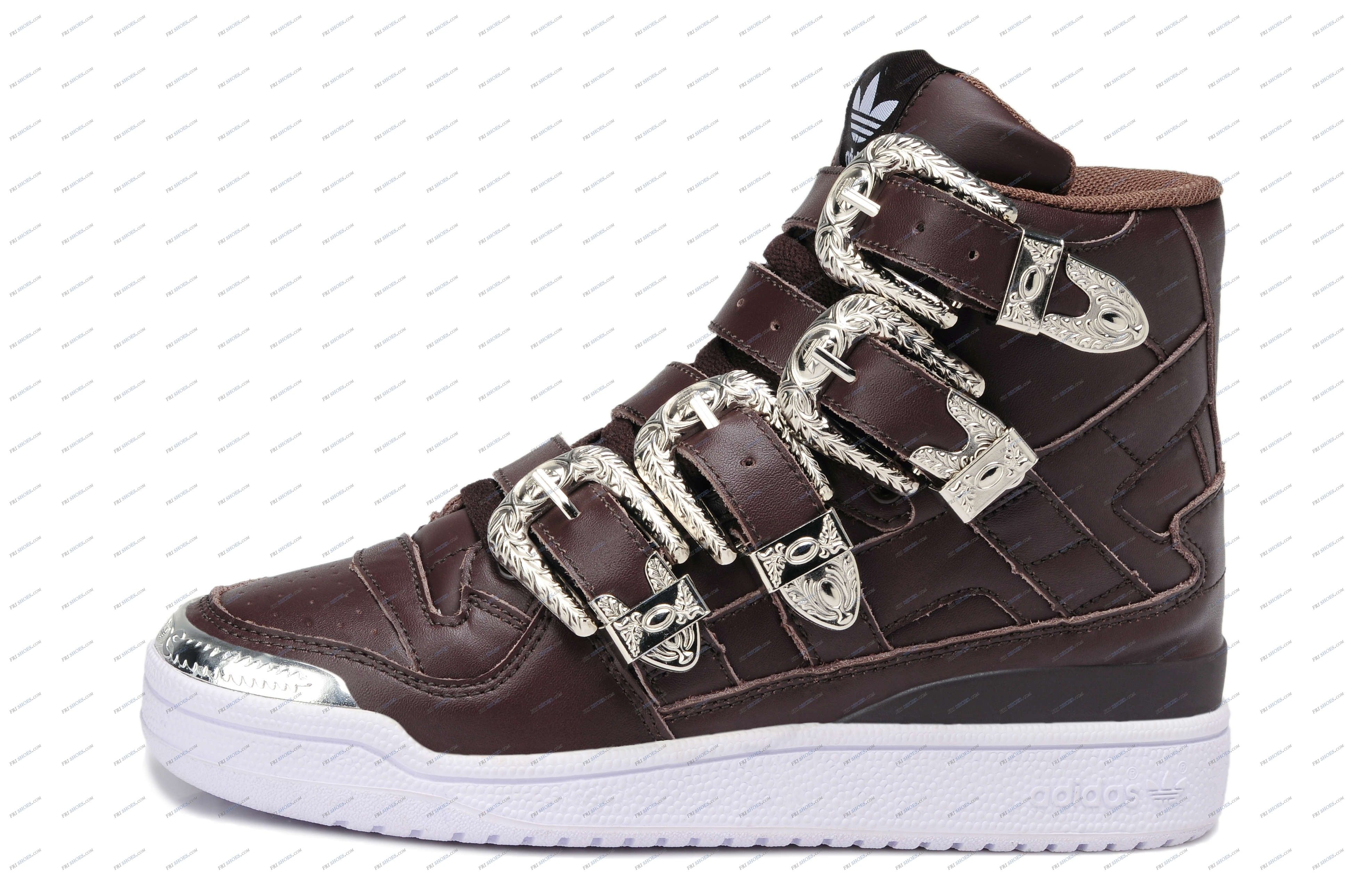 5a1d7a4bcd76 Adidas Originals Jeremy Scott Forum Hey Metal Brown Women s Running Shoes  shoes online india