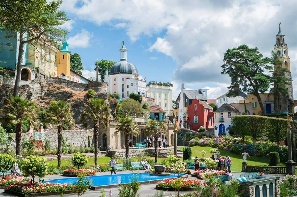 Port Merion in North Wales were they used to film the Prisoner