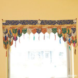 Beautiful toran, used as a window treatment. It's no longer available from the seller, but nice inspiration.