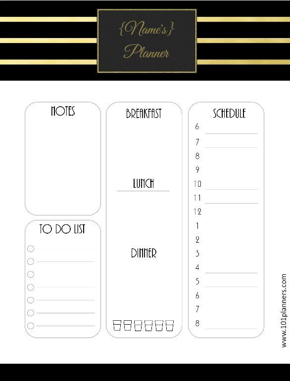 Daily planner template Bullet Journal Pinterest Planner - downloadable daily planner