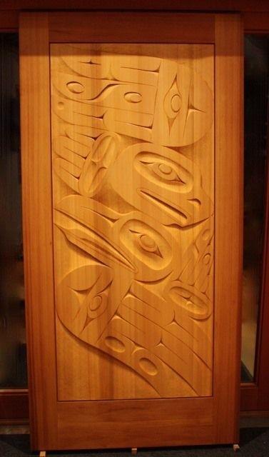 Red Cedar door entitled Sky Dancers: an eagle and raven design. Carved by Gordon & Red Cedar door entitled Sky Dancers: an eagle and raven design ... Pezcame.Com