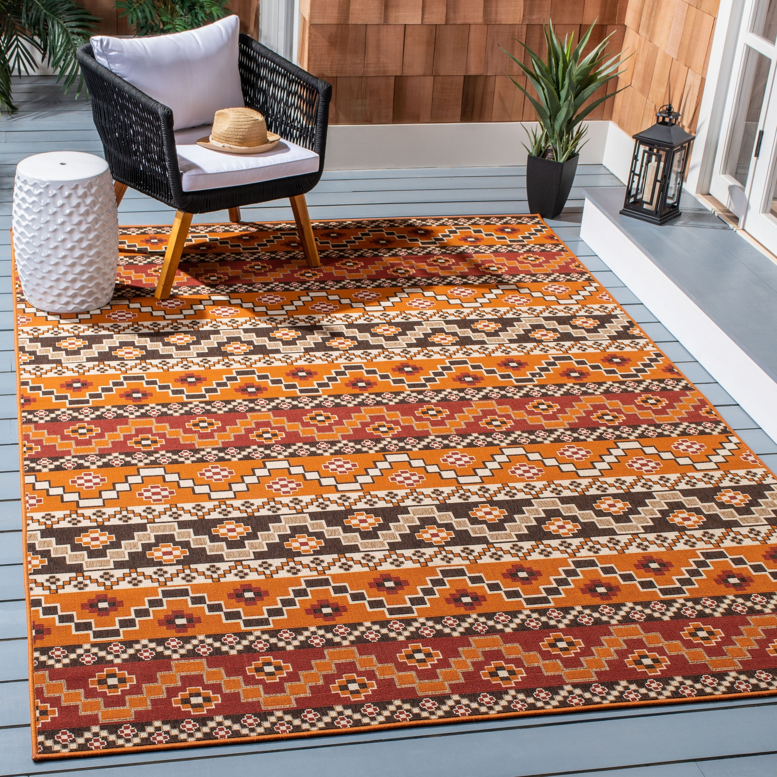 Safavieh Veranda Luwig Southwestern Indoor Outdoor Area Rug Or Runner Walmart Com Outdoor Rugs Indoor Outdoor Area Rugs Indoor Outdoor Rugs