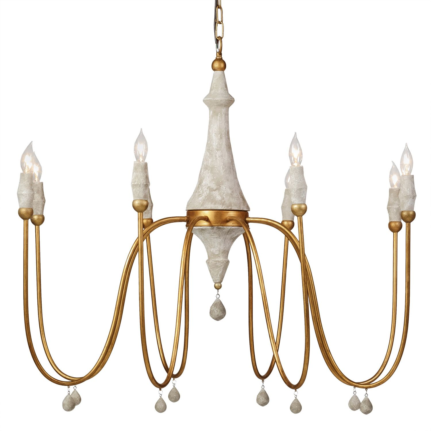 The Gabby Lighting Clay Chandelier Delivers Mid Century Appeal To Modern Living Rooms Bedrooms And Entryways This Large Scale Light Features A Turned
