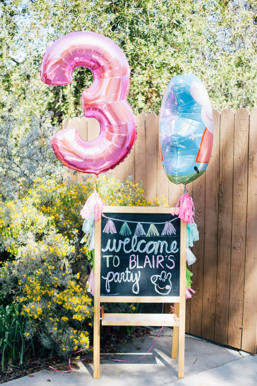 Blairs 3rd birthday peppa pig pig birthday pig party
