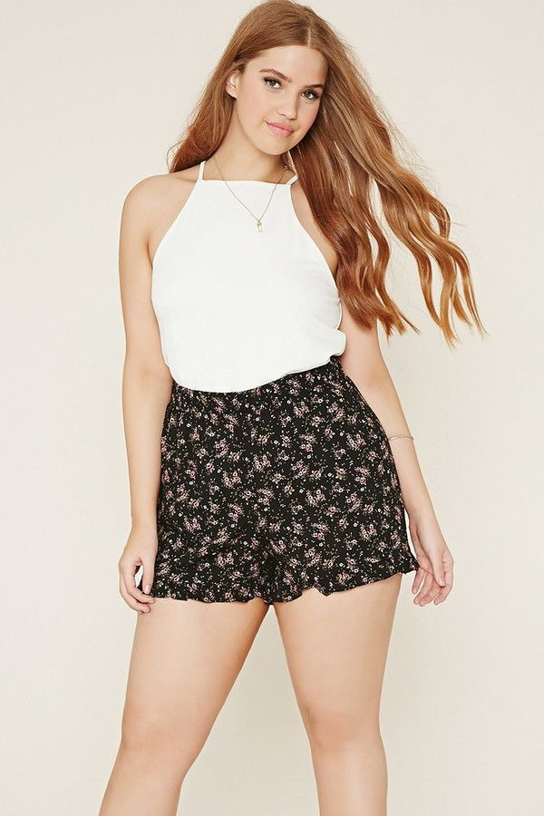 a1ce5b5f88e FOREVER 21+ plus size floral shorts