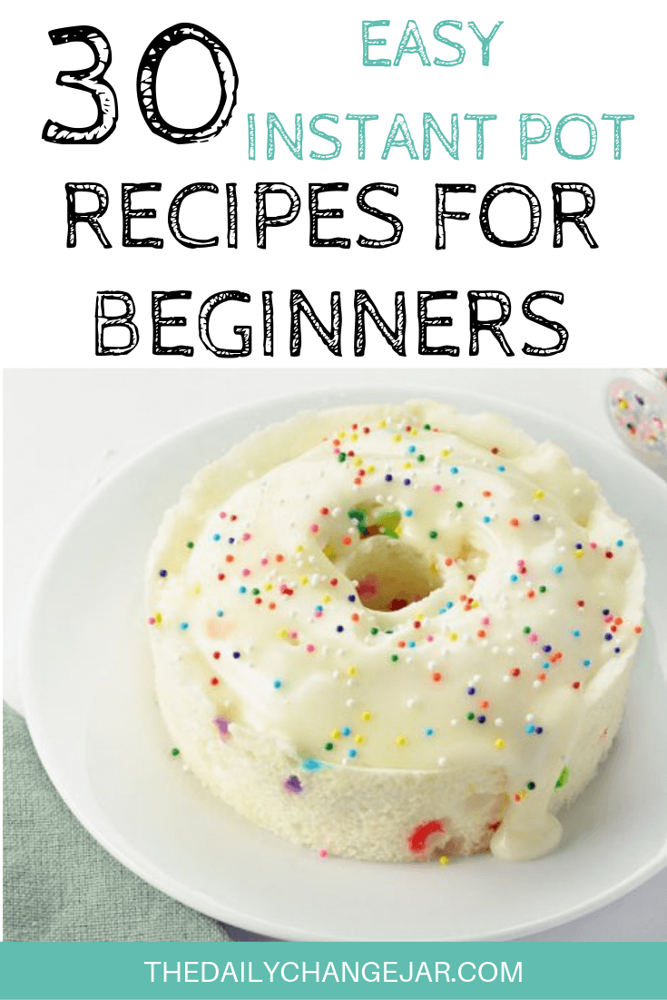 30 Easy Instant Pot Recipes for Beginners - The Daily Change Jar #instantpotrecipesforbeginners