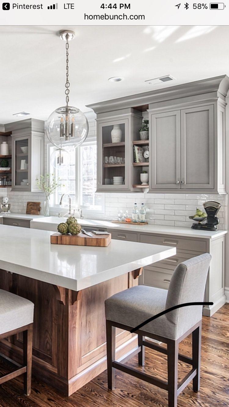 15 Amazing Gray Kitchen Cabinets Design Ideas Home Decor Kitchen Kitchen Design New Kitchen Cabinets