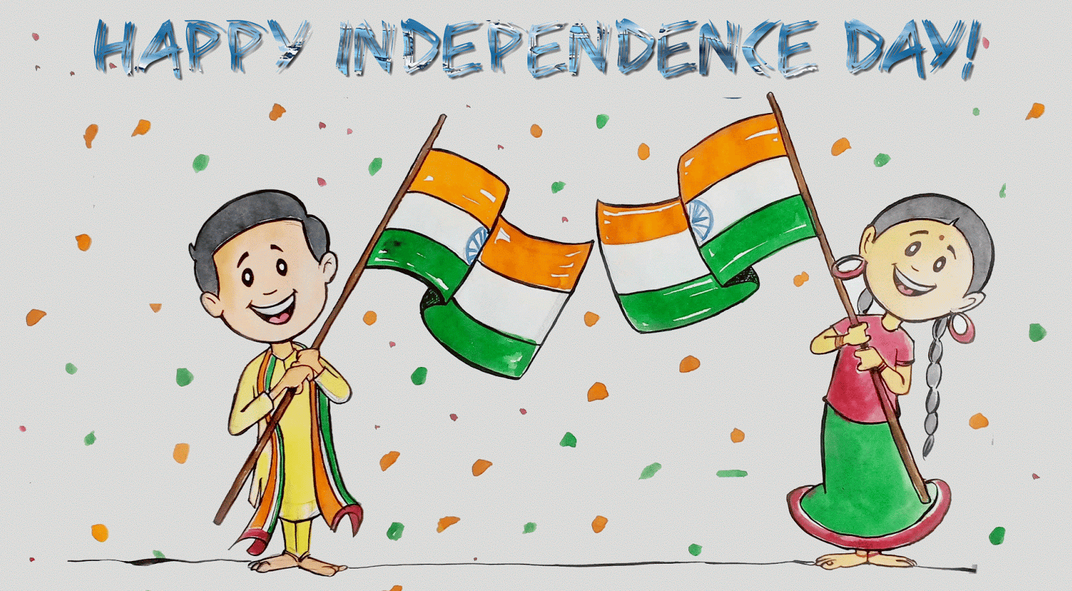 Independence day pictures drawing cartoon on august also rh pinterest