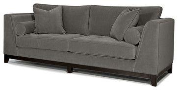 Nice Big Bulky Sofa. Seems Old Fashioned Yet Modern. Max Sofa, Wooden Base