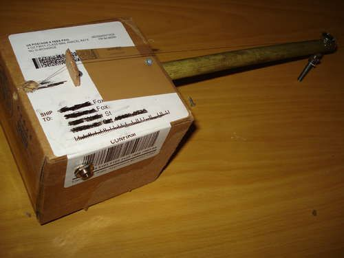The incredibly simple cardboard box electric diddley bow
