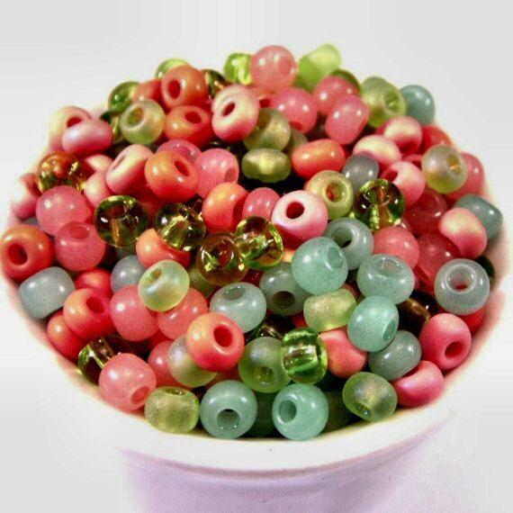 Czech Glass Seed Bead Tutti Frutti Mix 6/0 E by BobbiThisnThat
