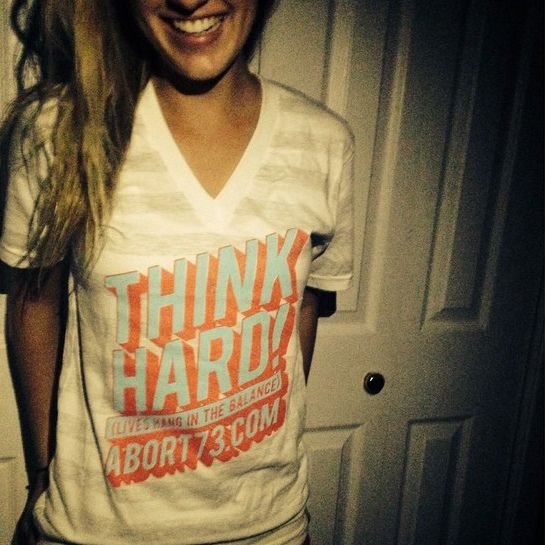 Only a few more days to get a new #ThinkHard #vneck for $12. Price jumps to $16 on Tuesday. http://www.abort73.com/gear/shirts/think_hard_v-neck/ | Flickr - Photo Sharing!