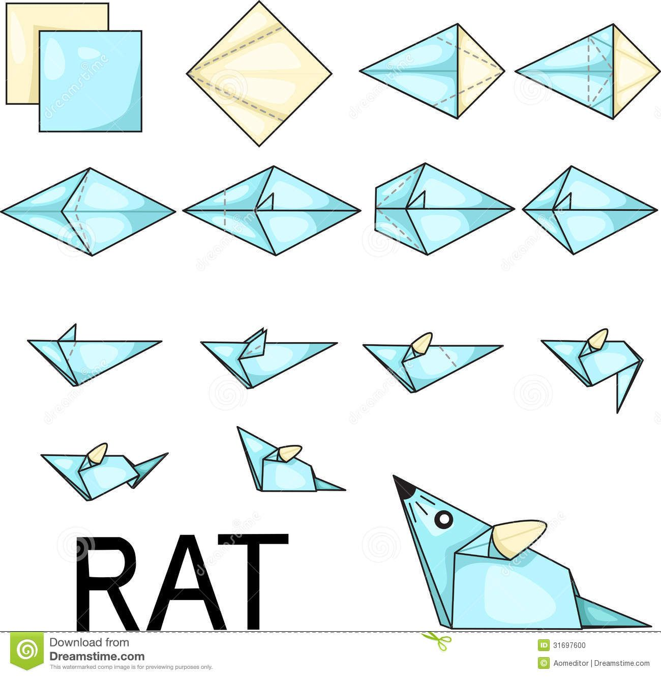 Origami rat stock photo image 31697600 for art pinterest origami rat stock photo image 31697600 jeuxipadfo Images