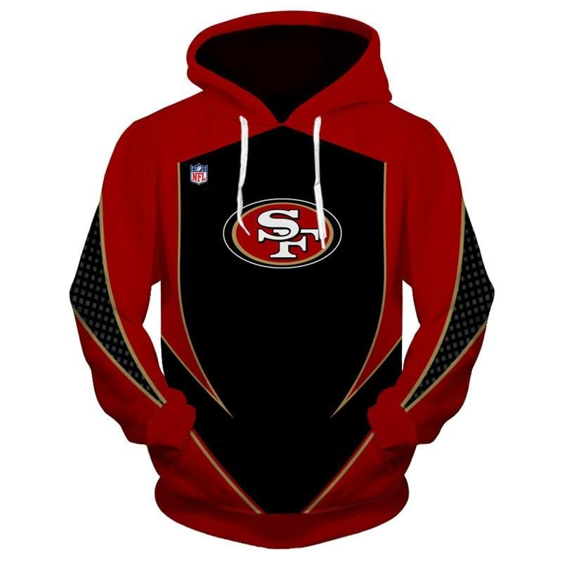 3be45998a2b San Francisco 49ers Hoodie 3D Football Sweatshirt Pullover NFL – gear sport  shop 100% Brand New with tag. Gender   Men Material  quality Spandex    polyester ...