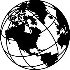 Image Result For Clip Art Globe Black And White